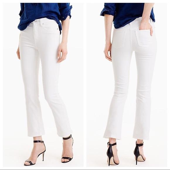 99717e4816a J. Crew Jeans | J Crew Billie Demi Boot Cut Cropped White | Poshmark